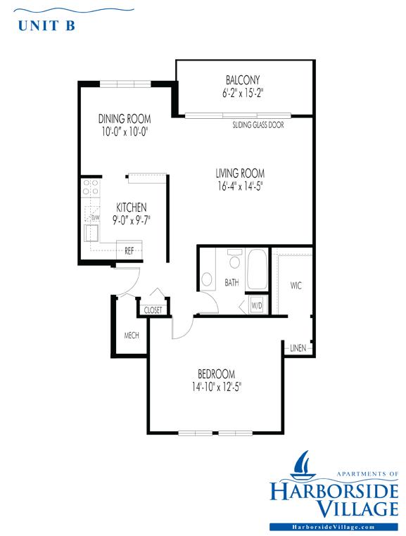 One Bedroom Unit - Third Floor with Balcony